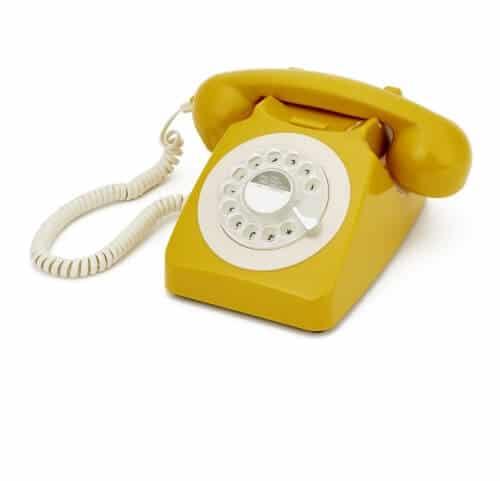 Fidèle réplique des téléphones anglais Pour un petit passage dans les 60's Branchement sur box internet Cadran comme à l'ancienne