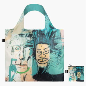 Vous êtes à la recherche d'un tote bag solide et durable ? En plus d'être résistants, les sacs réutilisables de la marque Loqi sont aussi de véritables œuvres d'art ! Jean-Michel Basquiat nous emmène dans les rues rapides de New York, pleines de fresques murales et de graffitis. Ressentez le rythme rapide de la Big Apple. L'artiste new-yorkais Jean-Michel Basquiat a joué un rôle important dans la transition de l'art du graffiti d'une activité de rue clandestine à l'art postmoderniste dominant. Andy Warhol étant le meilleur ami de Basquiat à l'époque, il est bien connu pour son style brut de peinture avec des graffitis et du texte gribouillé.