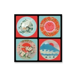 """Coffret 4 dessous de verre """"Fujiyama"""", décoration concept store à Blois arts de la table"""