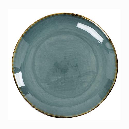 On aime cette assiette plate Grimaud en céramique craquelée dans les tons bleu pétrole et sa bordure sable réhaussée d'un léger trait marron. Sa forme légèrement irrégulière lui donne tout son côté artisanal et renforce son élégance. Chaque pièce est unique ce qui peut laisser apparaître de légères variations de couleurs mais cela n'enlève rien à leur charme. Assiette plate Grimaud signée Athezza. Compatible lave-vaisselle. Diamètre 20cm