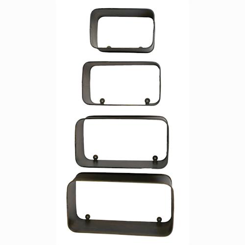 Disposez cet ensemble de 4 étagères comme bon vous semble, alignées, décalées, à la verticale, à l'horizontale. Laissez libre cours à votre créativité et disposez ces étagères selon vos envies.