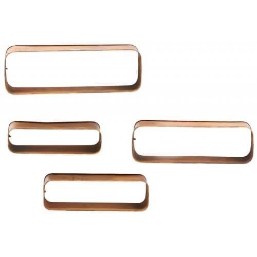 Ensemble de 4 étagères monotra dorées, mobilier concept store à blois Loir et Cher