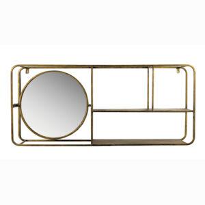 Simple et bien pensée, cette magnifique étagère murale en métal dorée sera parfaite pour ajouter une touche décorative dans votre cuisine, votre chambre ou votre salle de bain. Réalisée en métal, elle bénéficie d'une solidité et résistance que vous apprécierez.